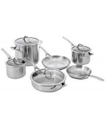 Calphalon AcCuCore Stainless Steel 10 Piece Cookware Set, COPPER CORE, 5 Ply