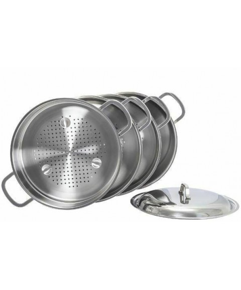 Russian Dish  Mantovarka  Steamer Stainless  3 tier 7 L (made in russia) kukmara