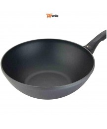 Cooking Pans Nonstick Wok Versatile Pan With Glass Lid Cover 11 Inches - Rsenio
