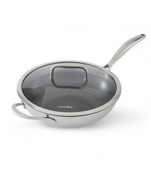 Pampered Chef NEW ~ STAINLESS STEEL NONSTICK WOK