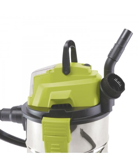 24-Volt iON+ Cordless Portable Stainless Steel Wet/Dry Vacuum Kit 5.2 Gallons