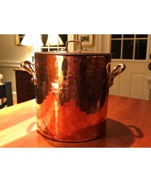 Copper Stockpot with Brass Riveted Handles Bridge Kitchenware Made in France