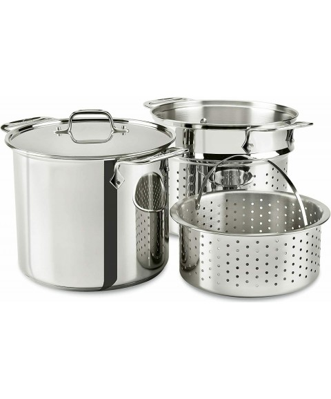 All-Clad Stainless Steel Multicooker Perforated Steel and Steamer Basket, 8