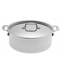 All Clad Stainless 6 Quart Stockpot Near Mint Made In USA Lifetime Warranty