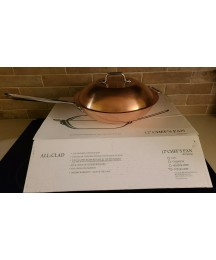 All-Clad 3- Ply Bonded Cookware, Copper Chef's Pan With Lid - 12