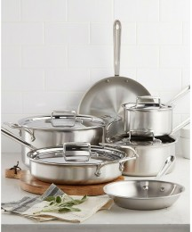 All-Clad D5 Brushed Stainless Steel 10-Pc. Cookware Set Brand New